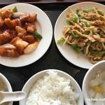 83008371 - 酢豚と青椒肉絲セット