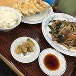 ぎょうざの満洲 - レバニラ炒め定食798円(税込)