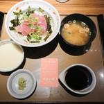 やよい軒 - 料理写真:鉄火丼(味噌汁つき) 750円