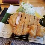 とんかつ豊田 - 料理写真:ロースとヒレの両方、サクサクで、お肉のジューシーさも味わうことができました