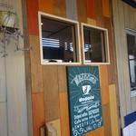 ドッピオ コーヒー ファクトリー - 風除室の扉