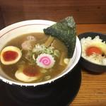83013370 - 煮干しラーメン 750円+玉子かけご飯 150円(税込)