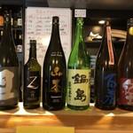 和食居酒屋なかじ - この日飲んだ日本酒(旦、作、山本、鍋島、百春、紀土)