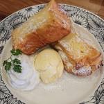 上高地あずさ珈琲 - 自家製フレンチトースト+メイプルシロップ&バニラアイス