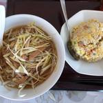 中国菜園味味 - ネギ麺+炒飯