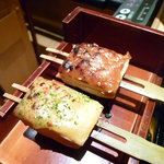 八かく庵 - 豆腐田楽(焼きたて)