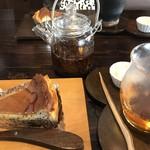 古民家カフェ鍵屋 - 紅茶と えごまチーズケーキ