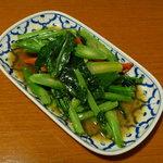 バーン・プータイ - カイラン菜のオイスターソース炒め