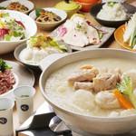 もつ鍋・水炊き 博多若杉 - 博多水炊き4000円コース