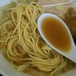 煮干中華そば のじじR - 麺アップ