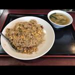 大龍飯店 - チャーハン(スープ付き)750円