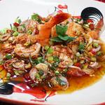 ニランカフェ - 海老のハーブ和え