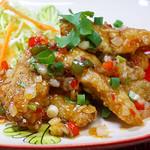 ニランカフェ - 白身魚のフライ 甘辛ソースがけ