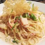 セブンストック - カニとかに味噌のクリームソーススパゲティ