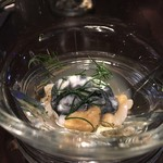 yoshiyuki - つぶ貝とリコッタチーズ