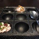 yoshiyuki - タコとチーズのペースト 神経〆にした鱈と自家製ニシンのカラスミ