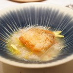 83039110 - ☆甘鯛の松笠揚げと蟹のスープと蟹のスープ