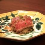 加藤牛肉店 - ■山形牛 イチボのタタキ
