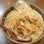 田所商店 - 「北海道味噌肉ネギらーめん」。