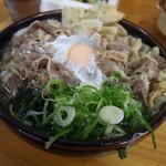 83047197 - 肉ごぼう玉子うどん(18-03)