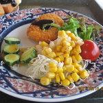 8305669 - サラダと牛肉コロッケ