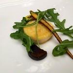 リストランテ カノビアーノ - デュラムセモリナ粉をまとわせた帆立貝柱のソテー