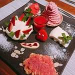 トラットリア要 - 越谷いちごフェス限定デザート「Strawberry Toontown〜越谷いちごの街」