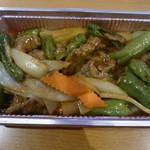 溢香園 - 牛肉とししとうの上海風炒め