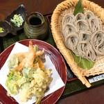 そばや清兵衛 - 天ぷらそばセット(1,350円)