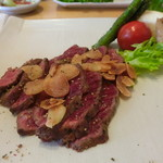 一汁三菜 - 料理写真:あしたか牛ももステーキ(100g)