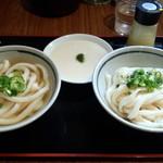 純手打ち讃岐うどん五郎 - しょうゆうどんセット(600円)+とろろ(100円)