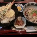 正家 - 野菜天丼セット