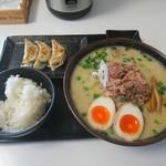 ら~麺処 豪屋 - トロ肉味噌ラーメン+Aセット
