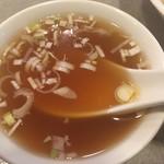 心苑 - 五目御飯のスープ