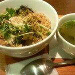 ナナズグリーンティー - 鶏そぼろ丼・スープ