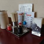 但馬ラーメン春日森店 - 料理写真:テーブル上のセット。