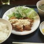 串太郎 - チキン南蛮定食(3本)