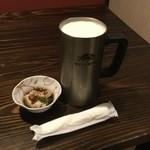 塚本鮮魚店 - お通し(200円)と生ビール