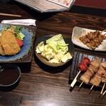 塚本鮮魚店 - 680円→780円に計算されていた「あじふらい」と串もの各種