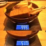 屋台屋 博多劇場 - 「おでん盛合せ」480円(税別)518円(税込)総重量(実測値)482g。