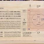 屋台屋 博多劇場 - 『両国江戸NOREN』に「展示されている実物大土俵の解説。