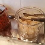 カレー専門店 クラウンエース - 自家製っぽいらっきょ。甘酢加減が絶妙でうまい!