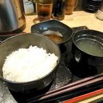 天ぷらとワイン 小島 - ご飯は普通