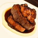 俺のフレンチ・イタリアン OMORI - 牛フィレ肉とフィレ肉とフォアグラのロッシーニ(1,980円+税)2018年3月