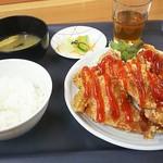 定食屋 めしどき - チリソース定食734円
