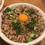 鶏ポタ ラーメン THANK - そぼろ丼