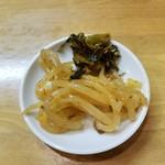 ばりきや - 辛もやしと高菜