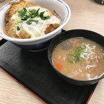 83097915 - カツ丼(竹)¥650/豚汁(小)¥120