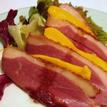 トックブランシュ - 前菜(合鴨ロースト パパイヤ添え)