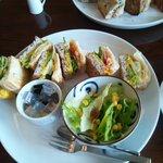 さくらカフェ - ランチセットかぼちゃと野菜サンド